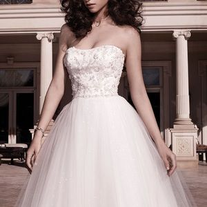 Casablanca Bridal Beaded Tulle Gown Style 2137